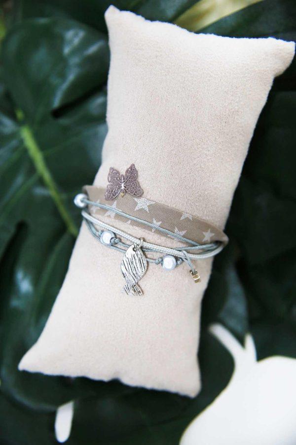 Bracelet Ruban Beige