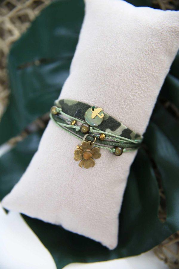 Bracelet Ruban Kaki