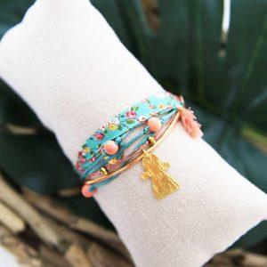 Bracelet Ruban Fushia