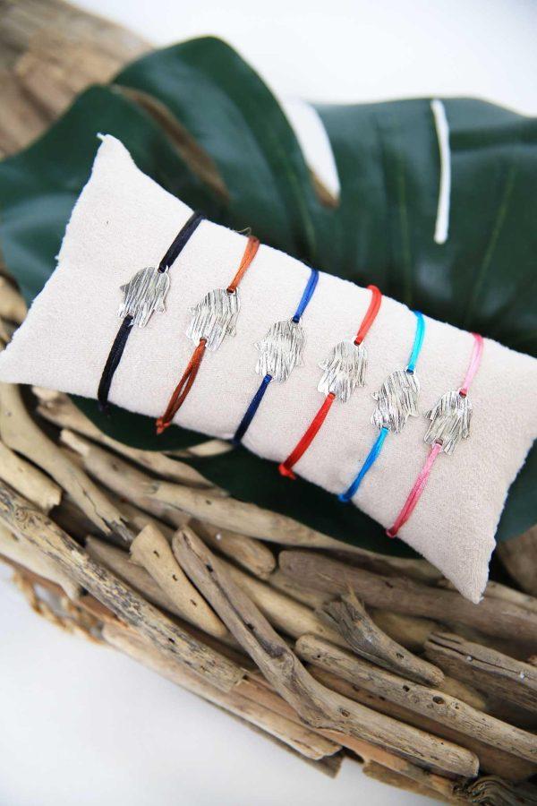 Set of 6 Bracelets Hamsa Silver