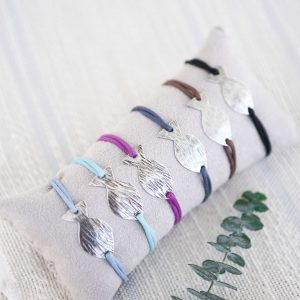 Set of 6 Bracelets Fish Silver
