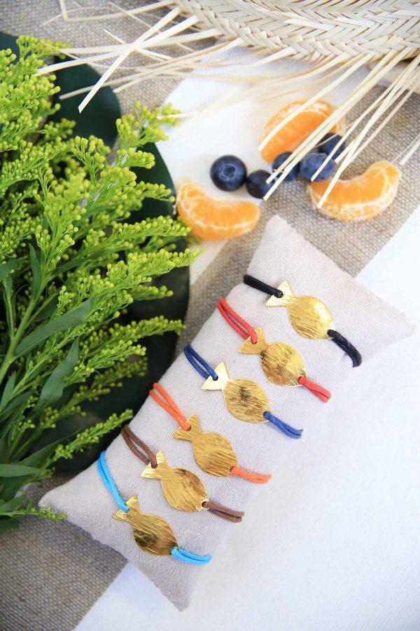 Set of 6 Bracelets Hamsa Gold