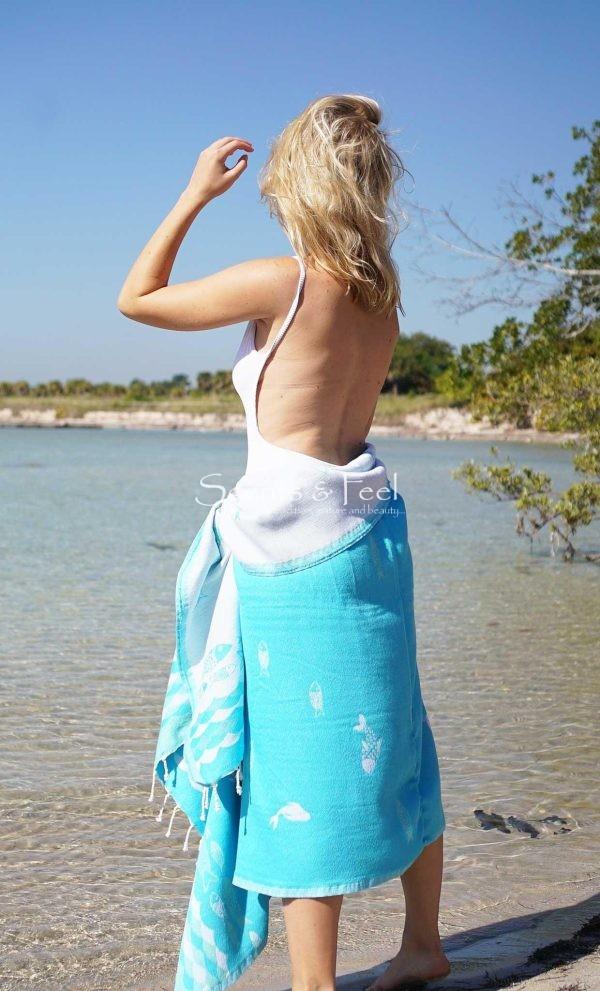 Fouta Beach Towel Ocean and Its Beach Mist
