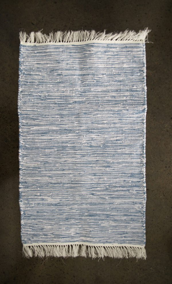 Small Chine Hand Woven Recycled Cotton Rug