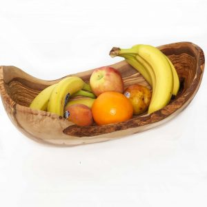 Olive Wood Large Oval Rustic Bowl