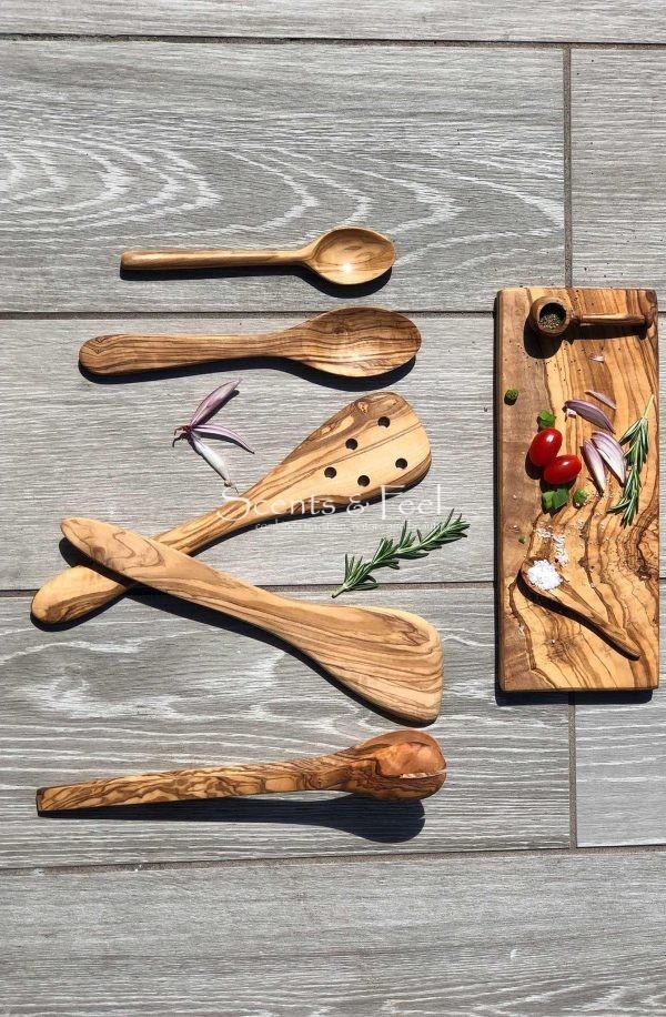 Olive Wood Slotted Spatula