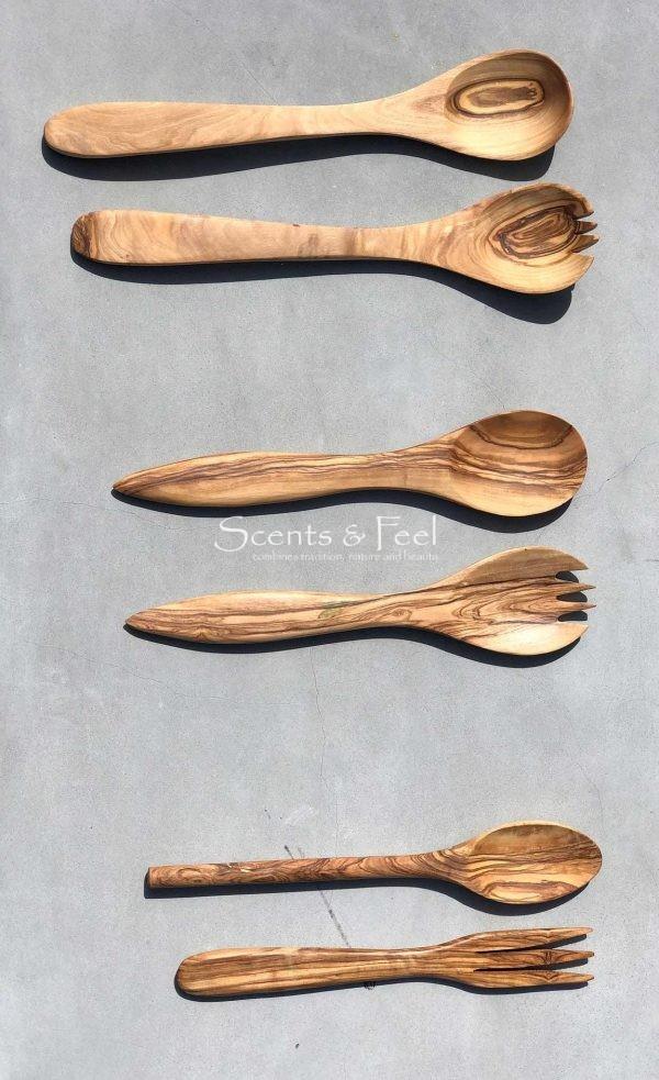 "Olive Wood 2 Pieces Serving Set 11"""