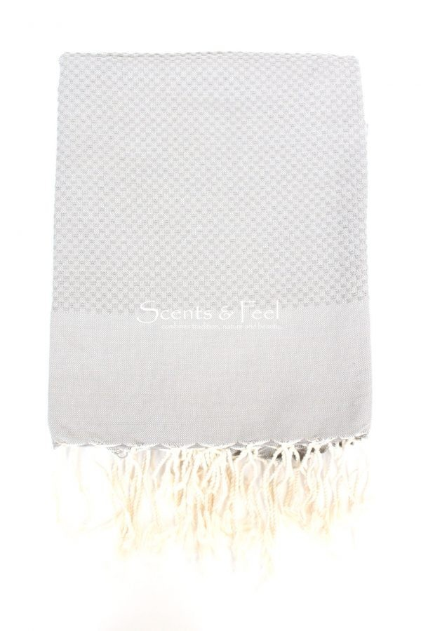 Fouta Turkish Bath Towel Solid Color Pearl Grey