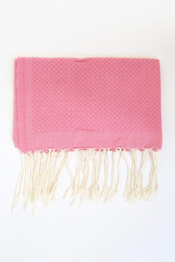 Guest Towel Honeycomb Fushia