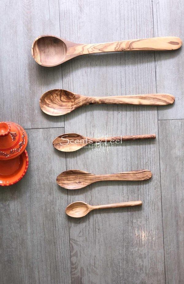 "Olive Wood Large Spoon 13 1/2"""