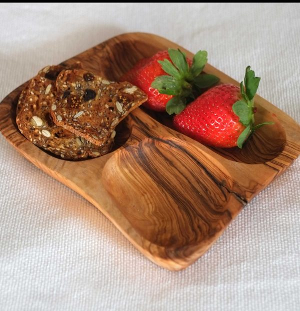 Olive Wood Small Appetizer Dish 6""
