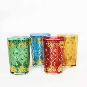 Set of Assorted Color Tea Glasses Harta Design