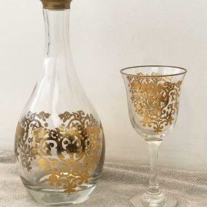 Set of 6 Set of Wine Glasses Amira Gold