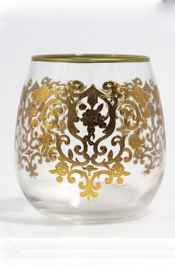 Set of 6 Drinking Glasses Amira Gold