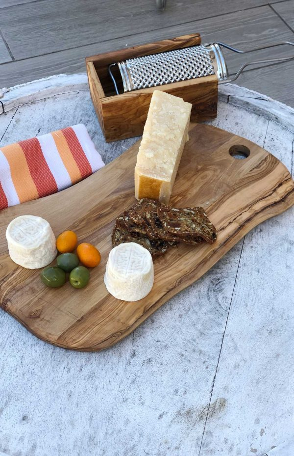 Olive Wood Cheese Board 14 1/2""