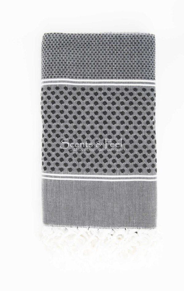 a Bath Towel Polka Dots Navy