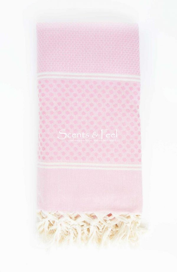 Fouta Bath Towel Polka Dots Pink