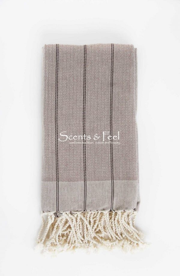 Fouta Throw Vertical Stripes Beige