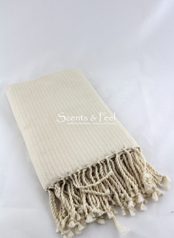 Fouta Herringbone Off White