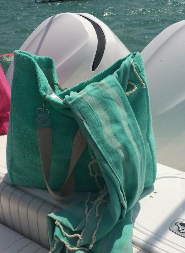 Terry Beach Bag Aqua