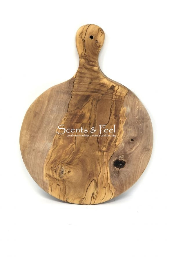 Scents and Feel Olive Wood Round Board