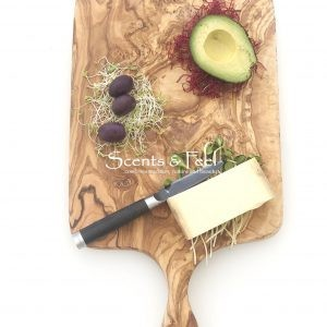 Olive Wood Large Rectangular with handle Cutting Cheese Board