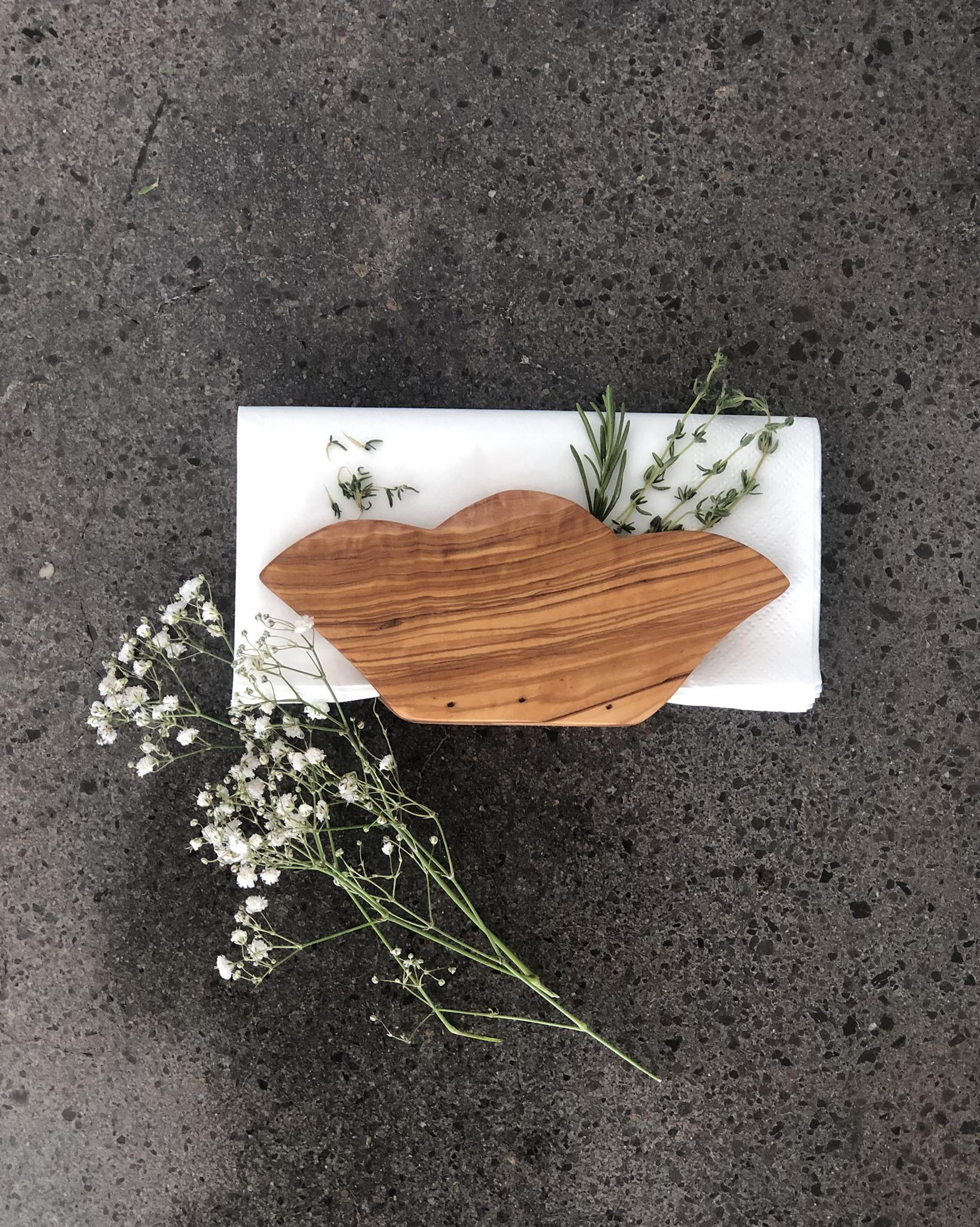 Olive Wood Napkin Holder Scents Feel
