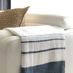 Throw Bamboo and Cotton Bicolor Hammamet